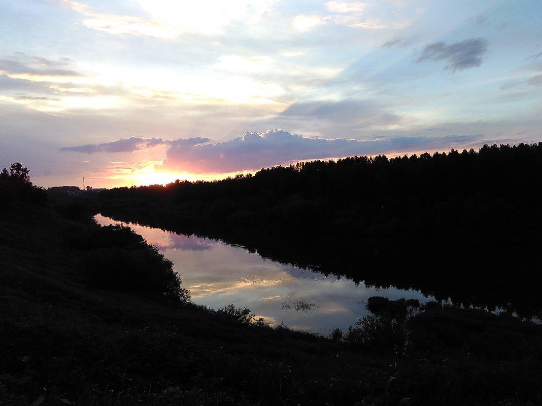 Закат на Чусовой. - Татьяна