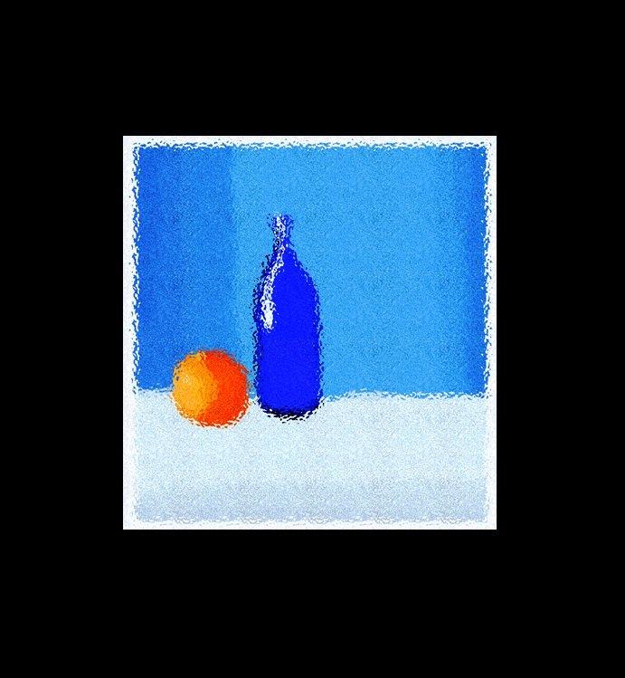 Натюрморт с апельсином - A