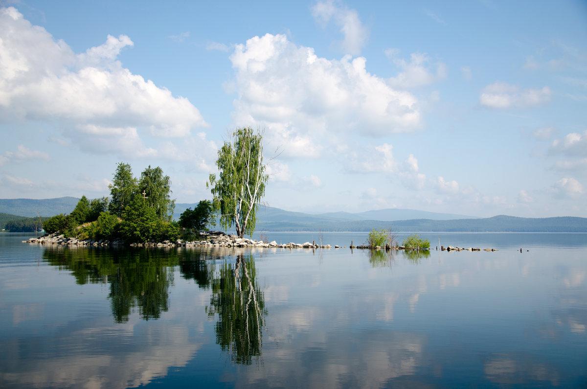 Остров Чайки. Озеро Тургояк. - Мария Ларионова