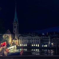 Двое в ночном городе :: Виктор Готлиб