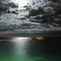 Полнолугие на море, штиль :: Vitalet