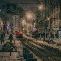 заснеженно-вечерняя Москва :: Игорь В. Капустин