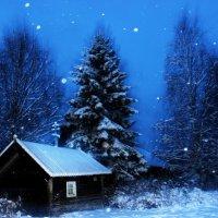 Ночь в карельской деревне. :: Андрей Скорняков