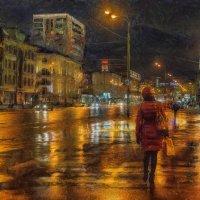 Каплет дождь, а Москва в огнях– франтиха! :: Ирина Данилова