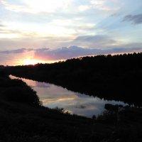 Закат на Чусовой. :: Татьяна