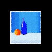 Натюрморт с апельсином :: A