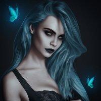 """Девушка и бабочки"" :: Сергей Мусихин"