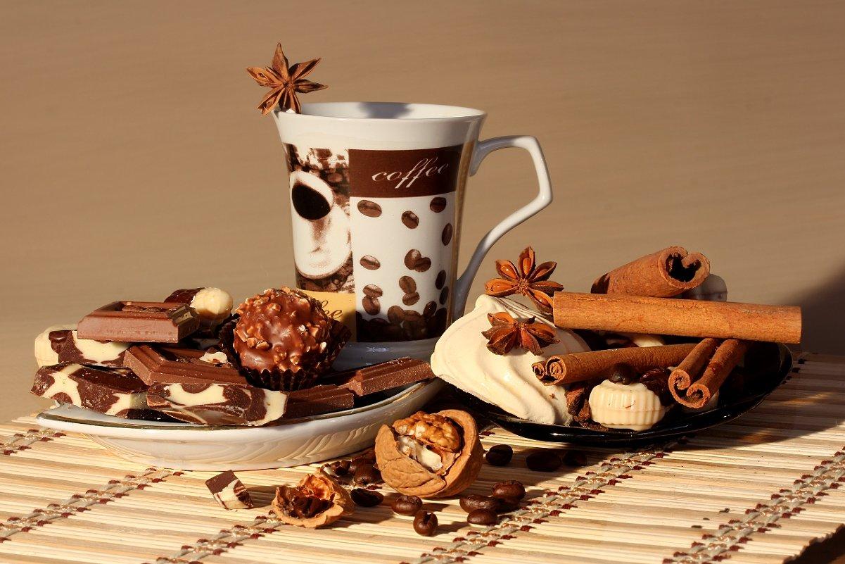 Открытки с кофе и сладостями