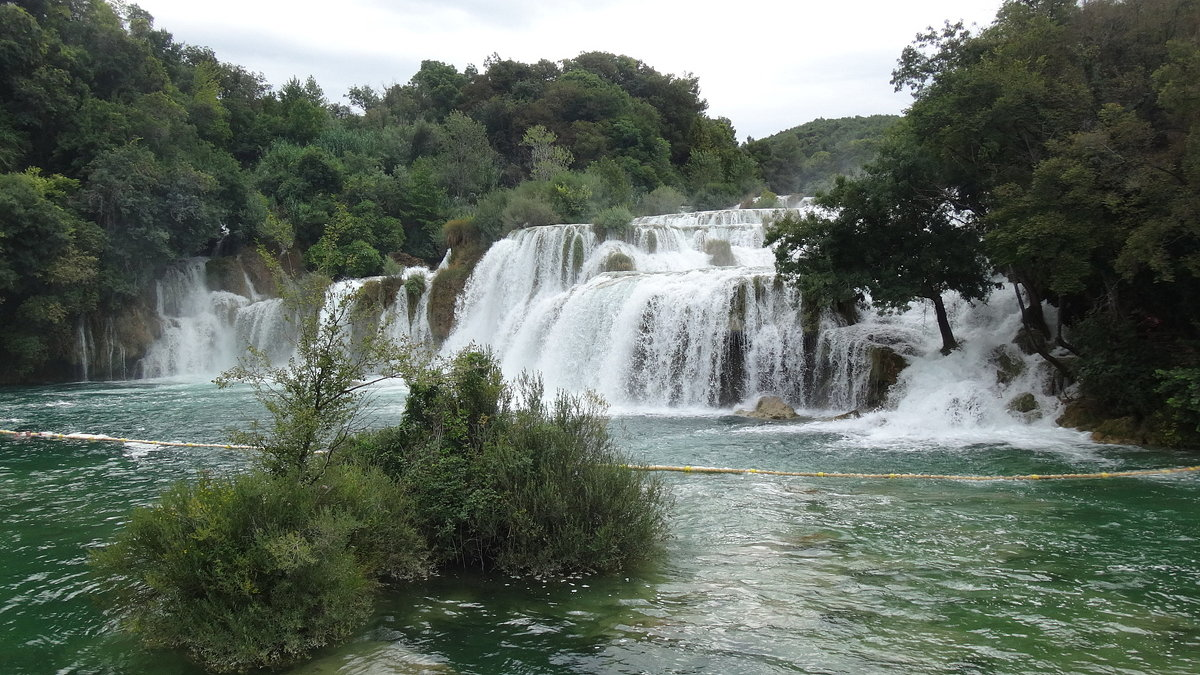 Водопад в парке КРКА. - Надюша