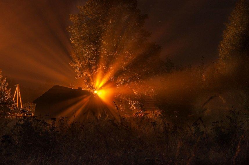 фонари, туман, деревня 2 - Виталий Исаев