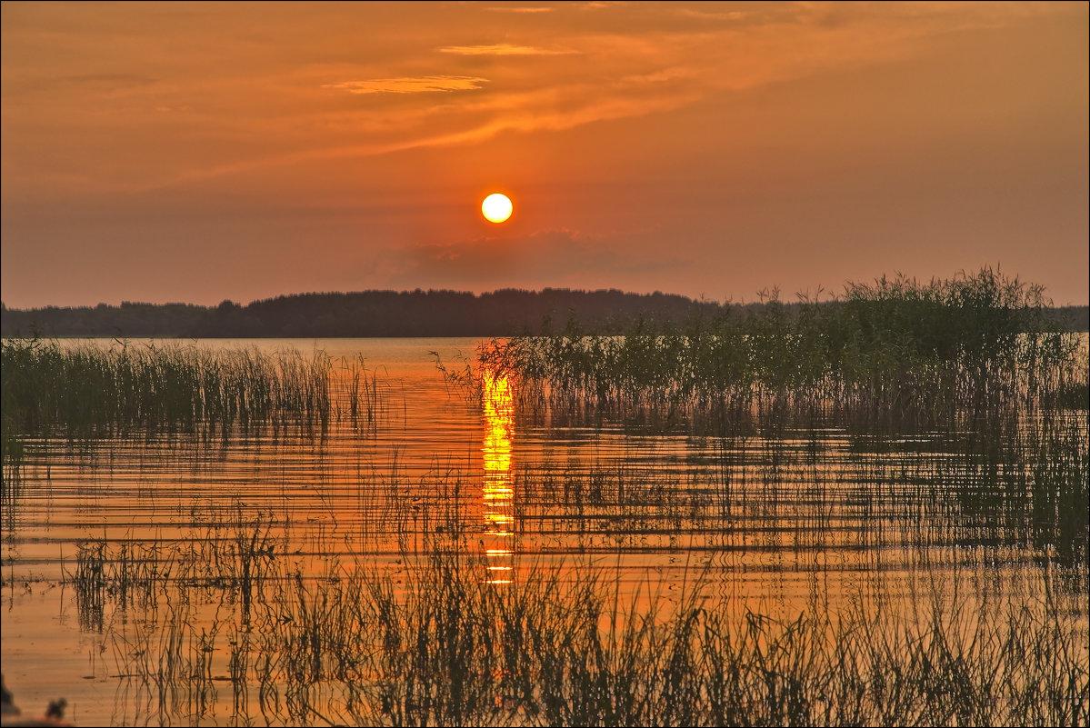 закат на Чудском озере - Petr Popov