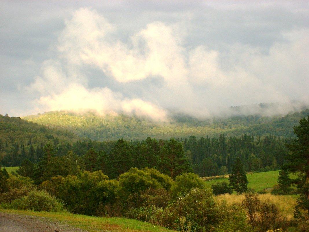Облака в горах в паужин - Наталья Золотых-Сибирская