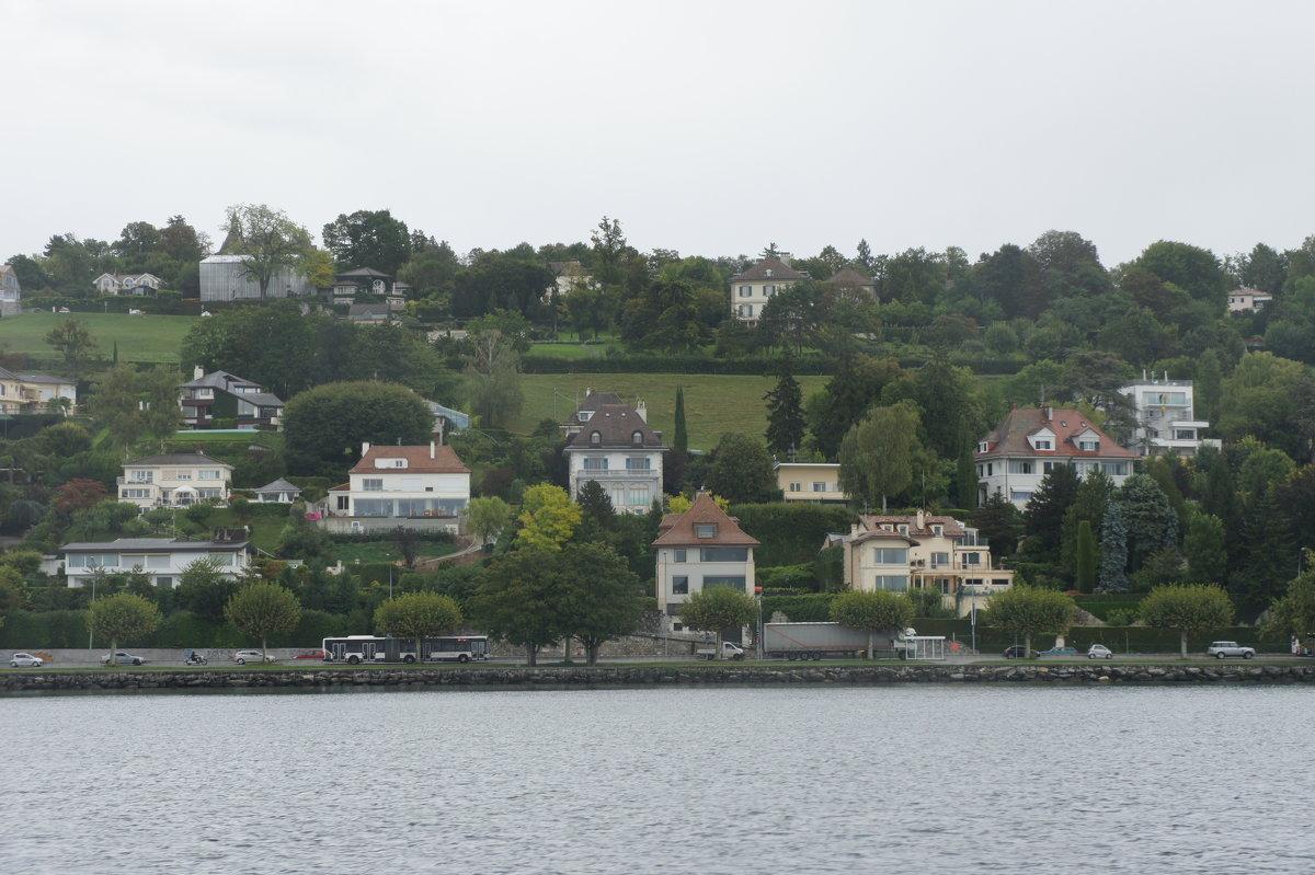 Севернее вдоль берега от Женевы раскинулись виллы и особняки самых богатых людей мира - Елена Павлова (Смолова)