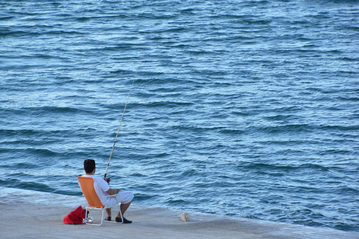 Рыбак и море. - Юлия Вольберг