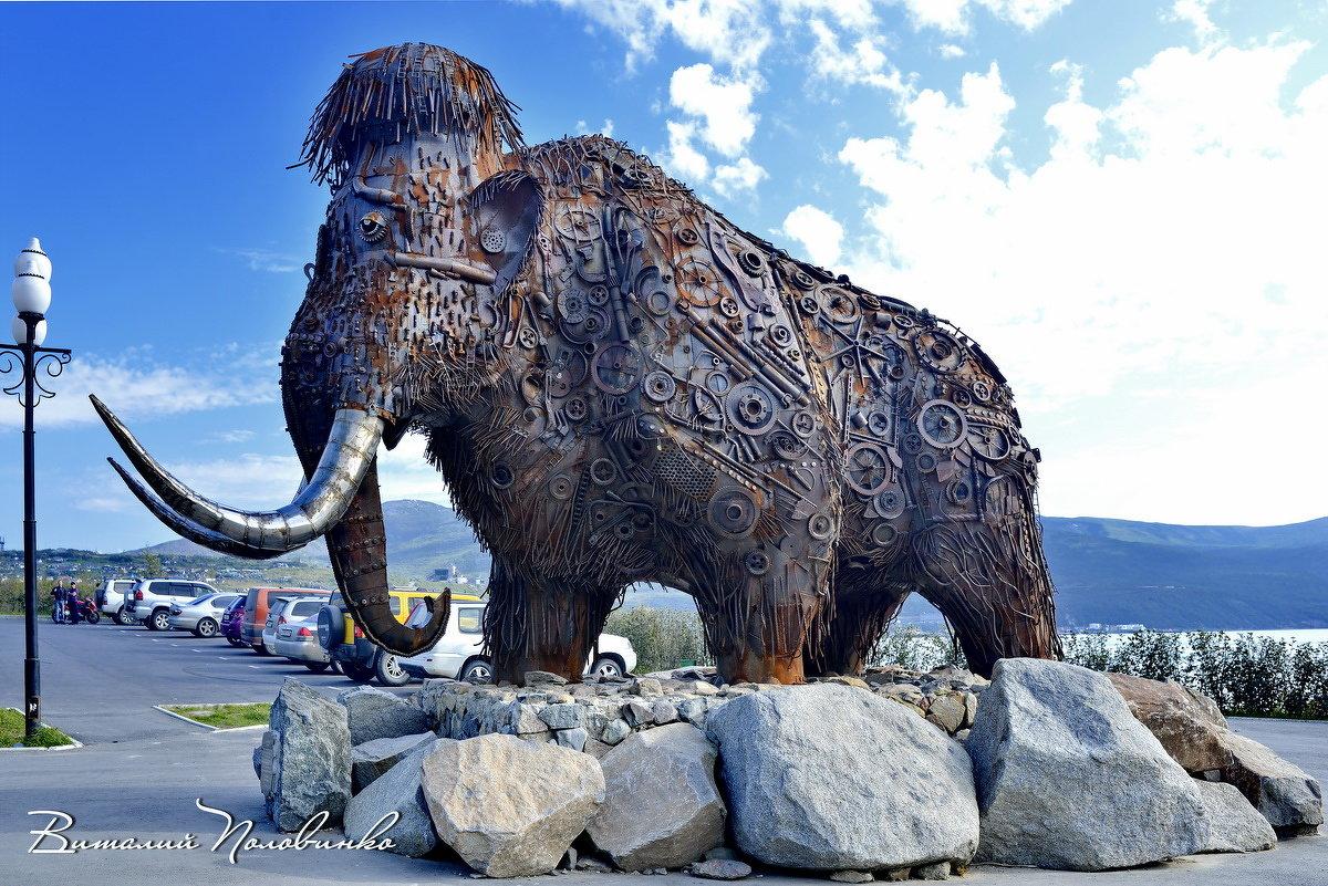 Современный памятник древним колымским мамонтам.  Магадан.  Колыма 23 - Виталий Половинко