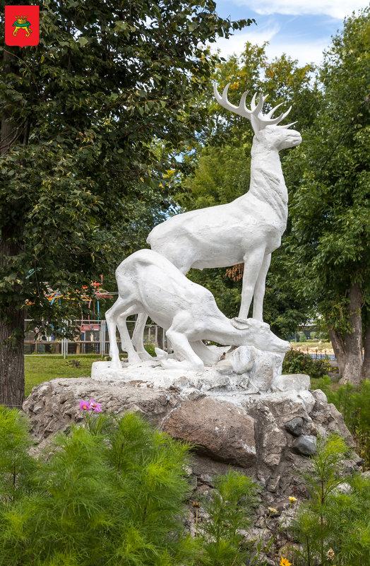 Тверь. Скульптура Олени в Городском саду - Алексей Шаповалов Стерх