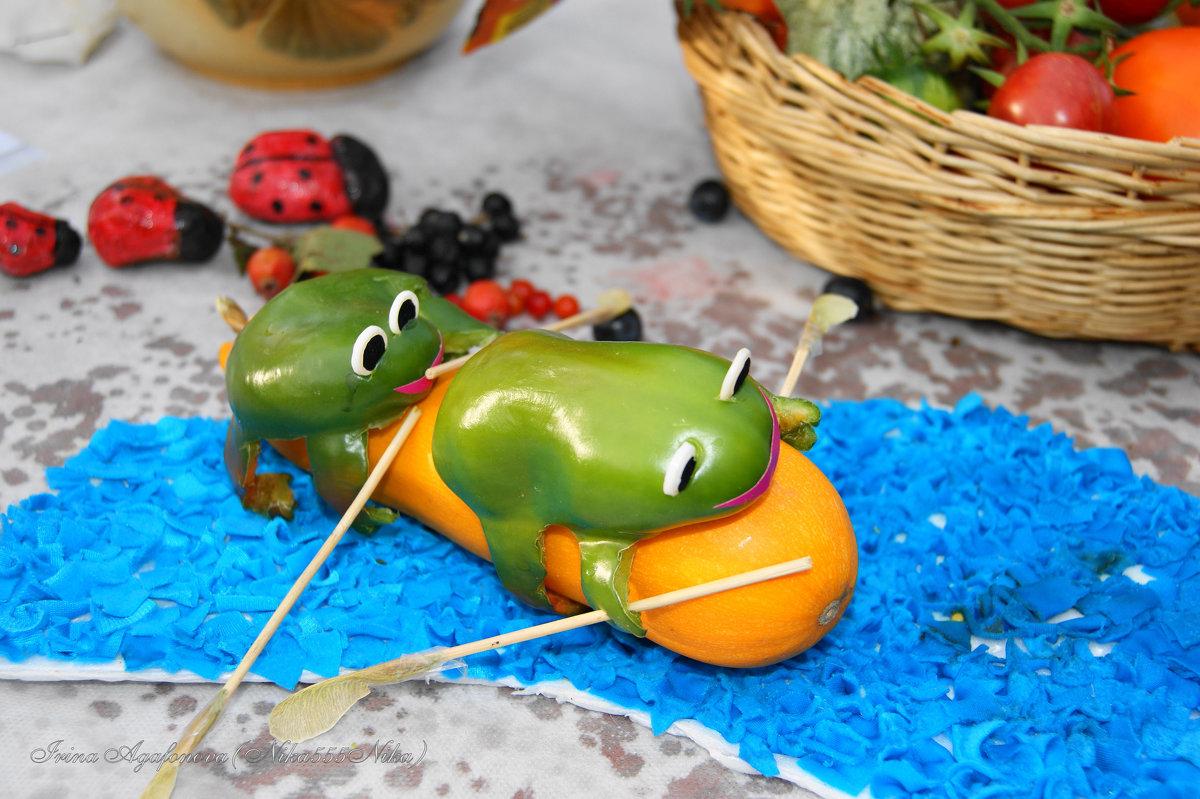 Лягушка из овощей поделка фото 47
