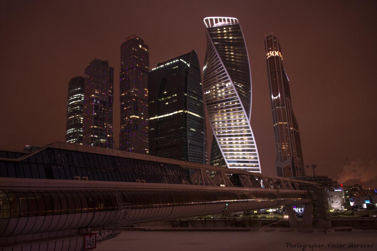 "Москва-сити, пешеходный мост ""Багратион"" - Виктор М"