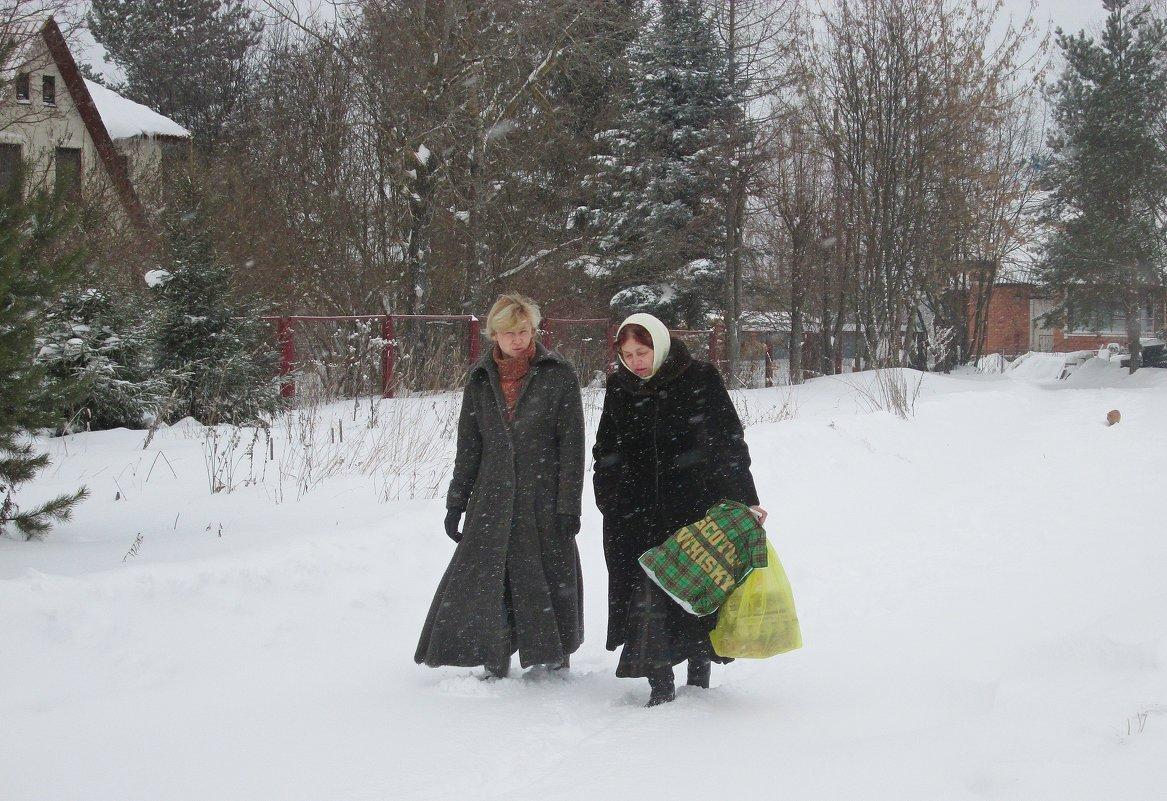 По свежему снегу. - Михаил Попов