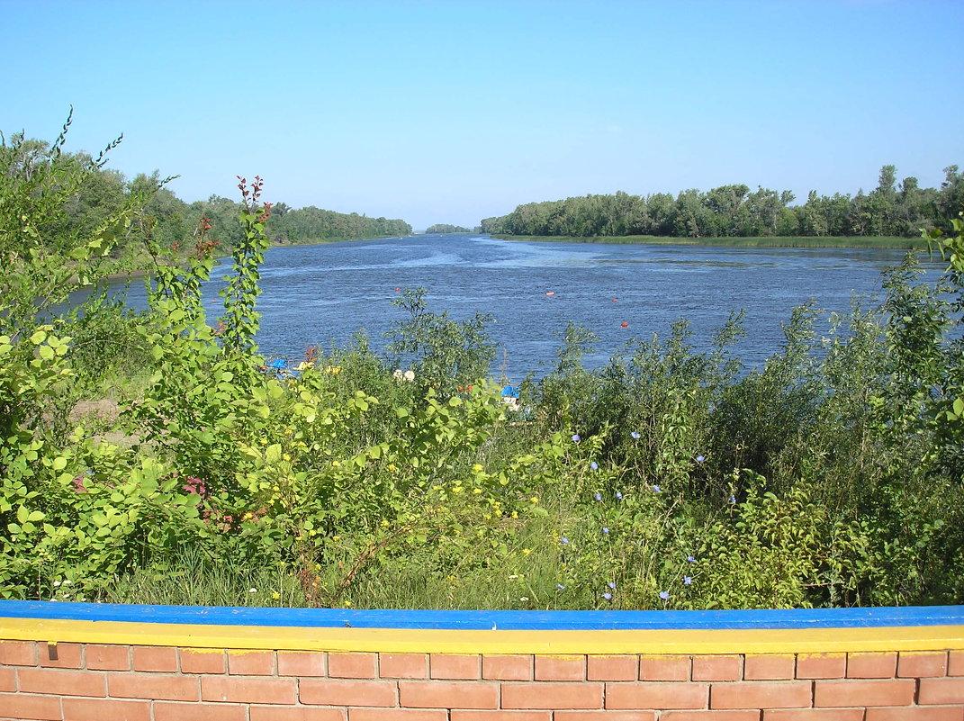 Лагерь Политехник. Вид на протоку Волошку - Булаткина Светлана