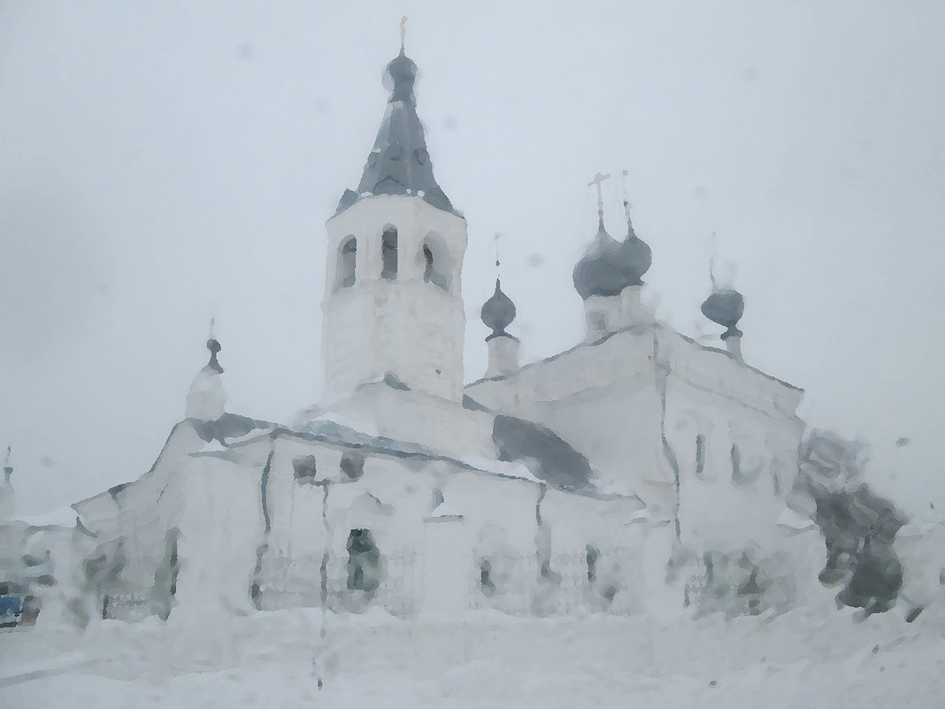 Зимний храм. - Михаил Попов