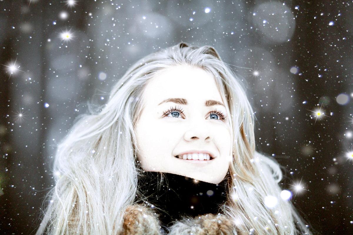 Девушка и снег. - Алексей Хаустов