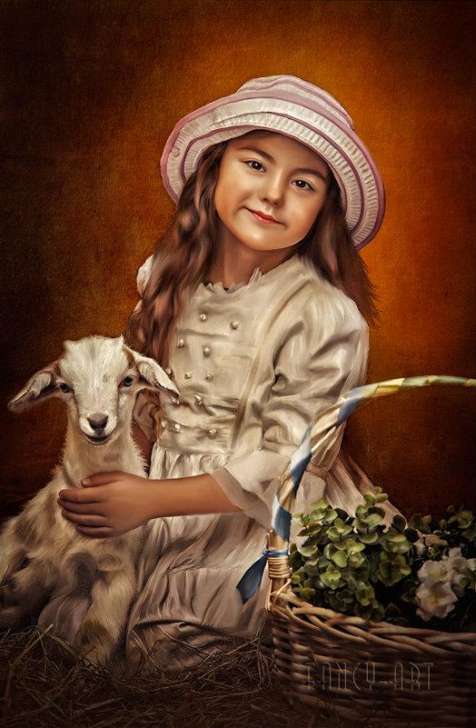 Портрет девочки с козленком - Лариса Соколова