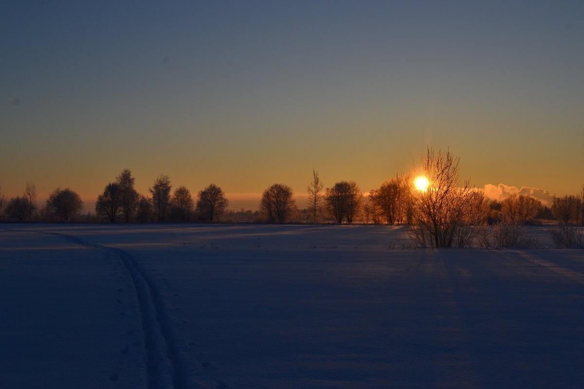 Зимний закат - виктория иванова