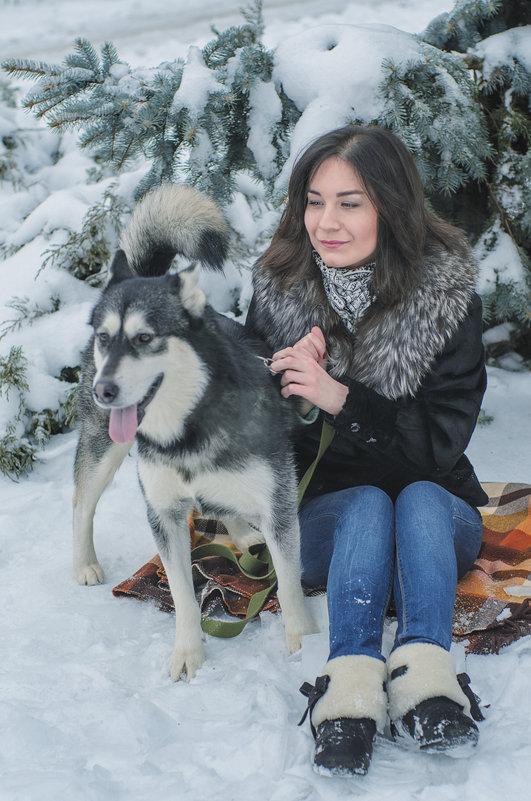 Виктория и Лола: зимняя прогулка - Ксения Довгопол