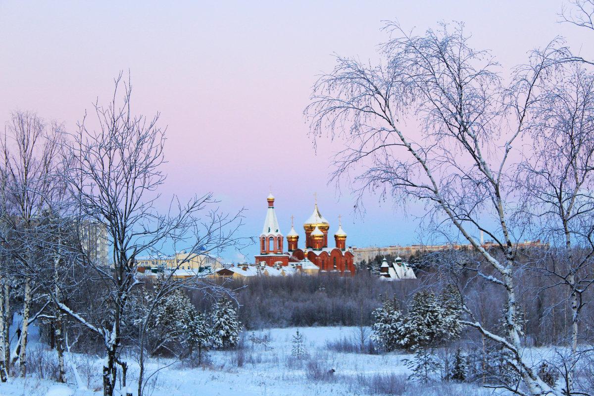 Храм Покрова Пресвятой Богородицы на закате - Евгений Карелин