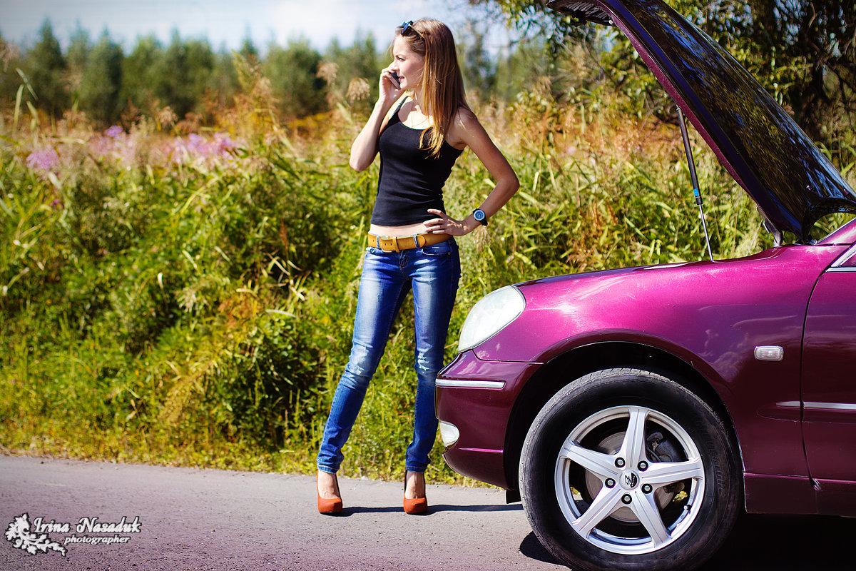 блондинка и авто - Ирина Насадюк