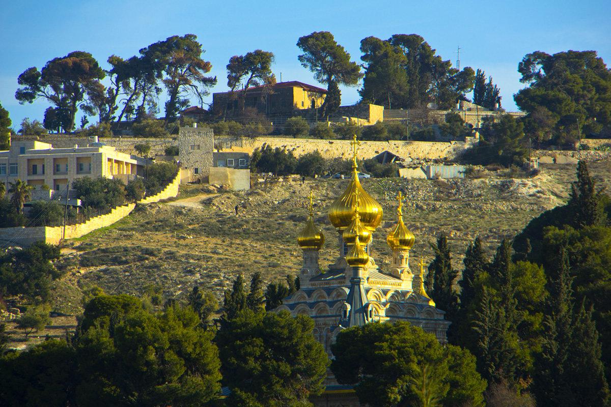Иерусалим. Вид на Масличную гору и церковь Марии Магдалины. - Игорь Герман