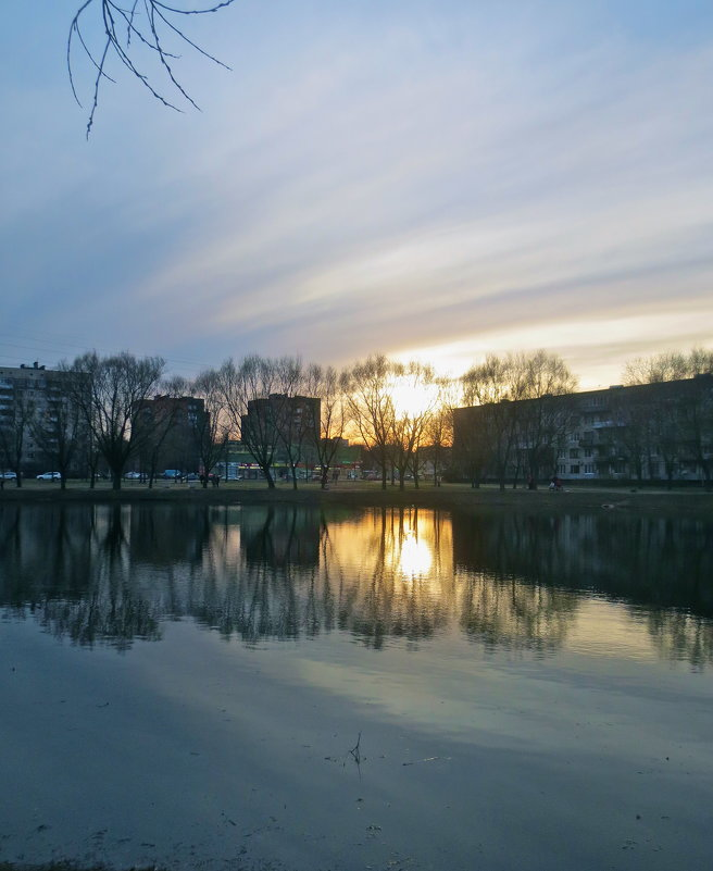 закат в городе - Елена