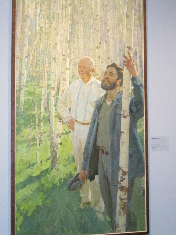 Н. Хрущев и Ф. Кастро в березовой роще - Маера Урусова