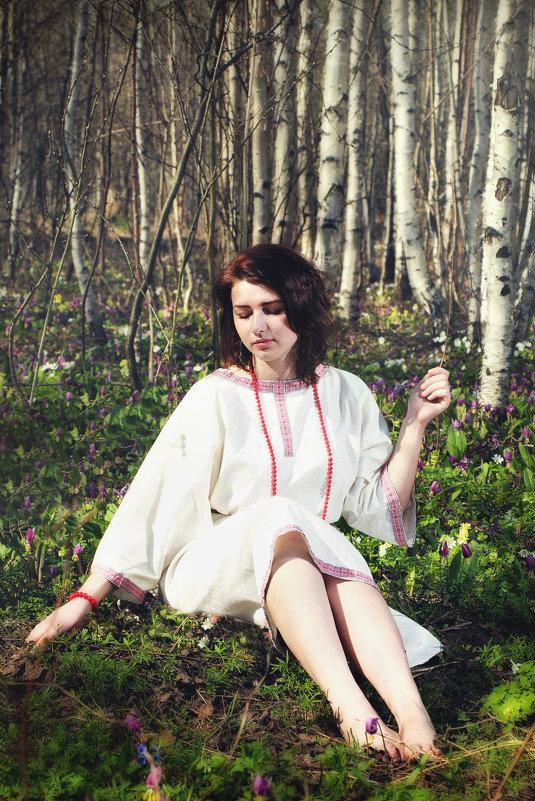 В берёзовом лесу. - Марина Кузьмина