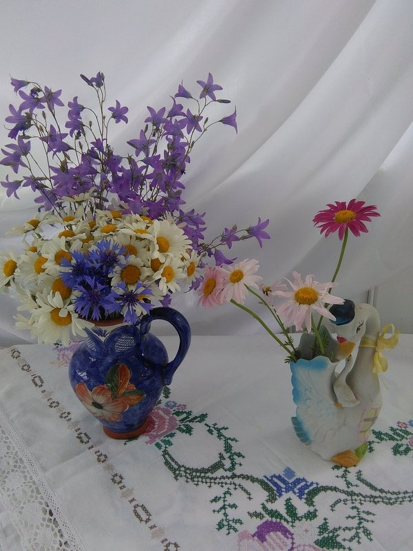 Ромашко-васильково-колокольчиковое лето.... - Mariya laimite