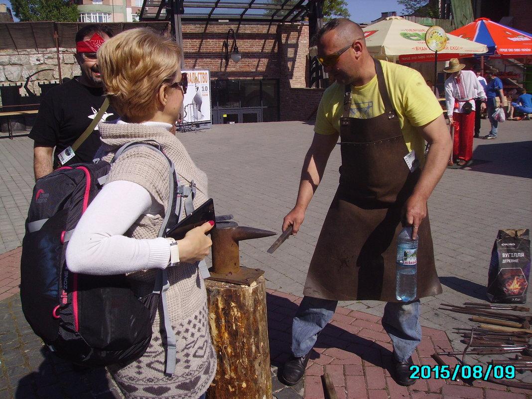 Праздник  кузнецов  в   Ивано - Франковске - Андрей  Васильевич Коляскин