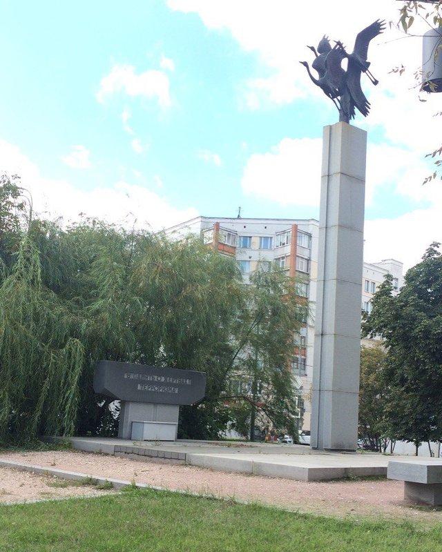 Мемориал погибшим при захвате театрального центра на Дубровке,печальный Норд-Ост. Москва - Таня К