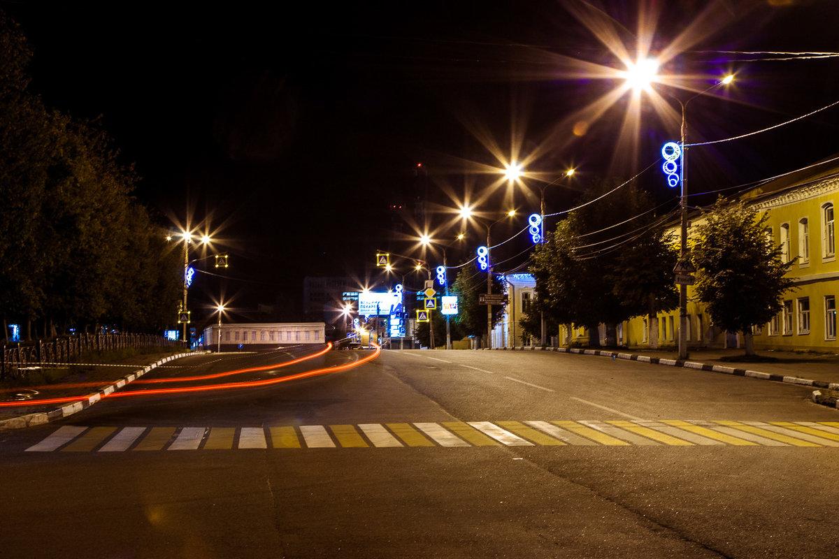 Прогулка по ночному городу. Павловский Посад. - Наталья Верхотурова