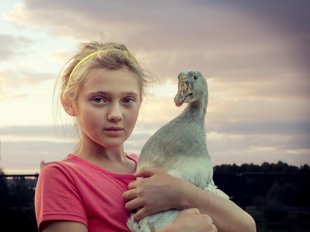 Девочка с гусем. - Валерий Изотов