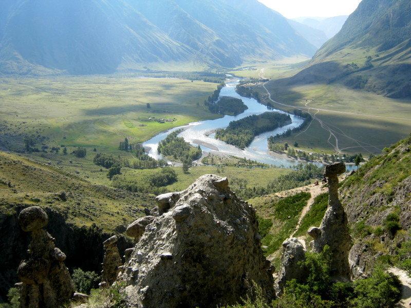 Вид с Ак-Корум на долину Чулышман. - Любовь Иванова