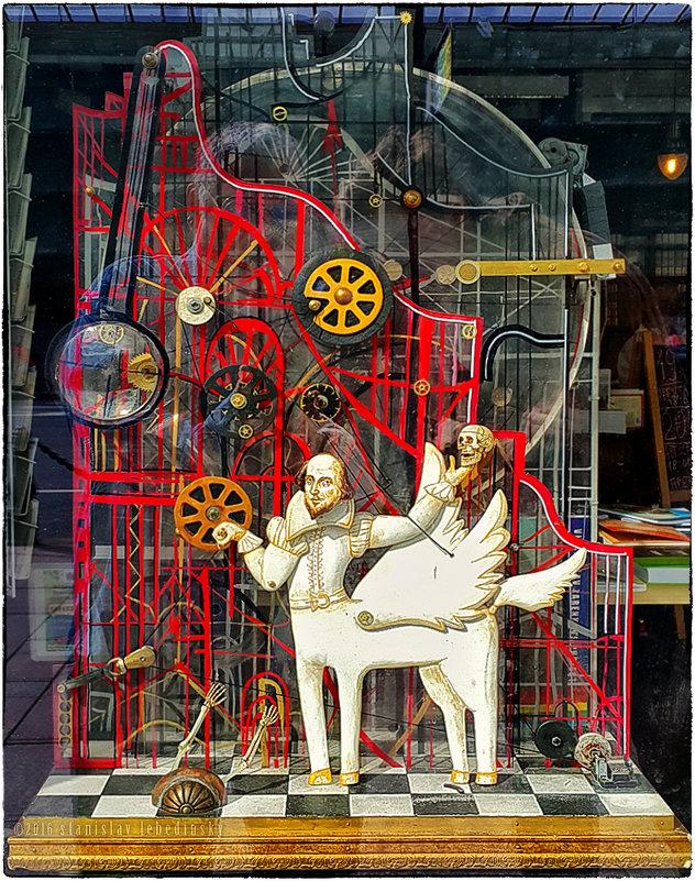 My magic Petersburg_02109 «Быть или не быть...». Витрина книжного магазина на Невском проспекте - Станислав Лебединский