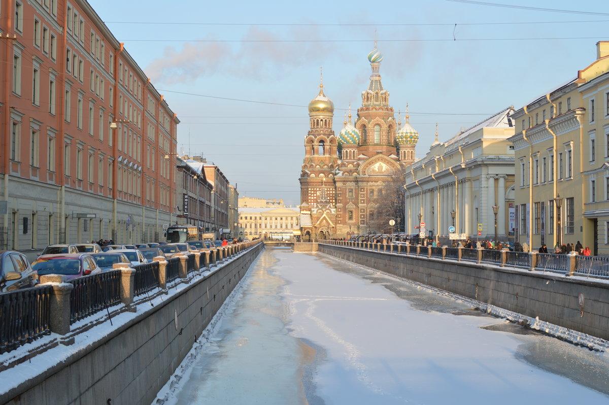 Каналы Санкт-Петербурга. Вид на Храм Спаса-на-крови - Виктор Козусь