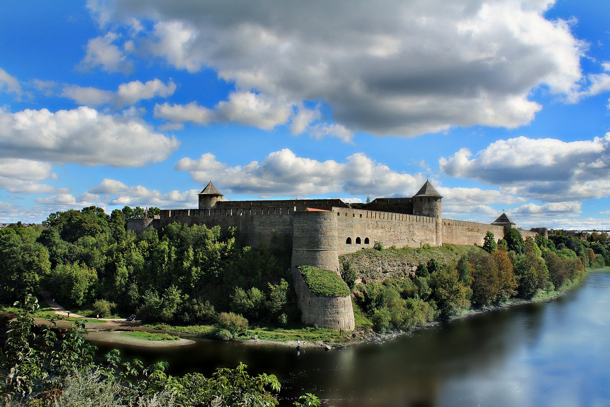 Ивангородская крепость. Река Нарова - Marina Pavlova