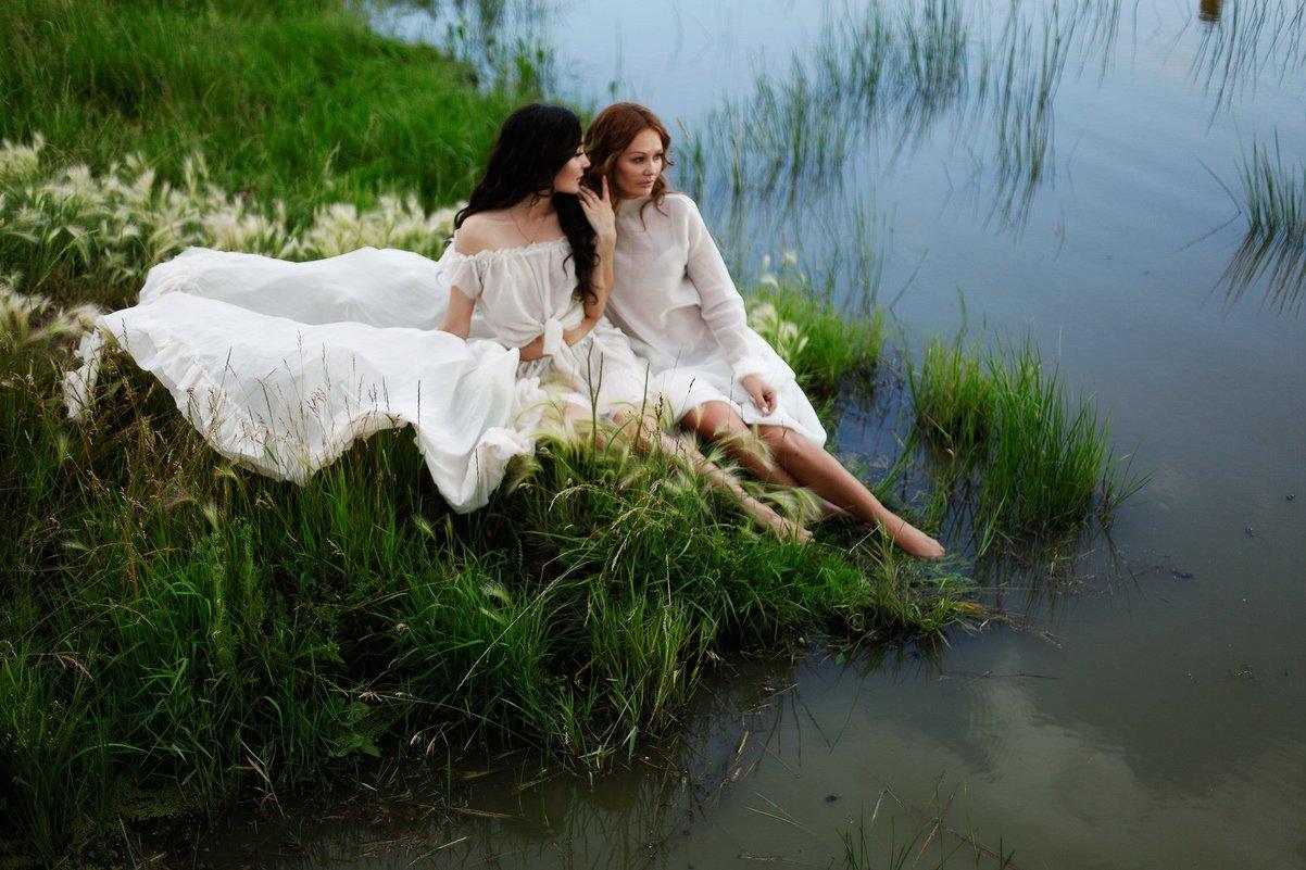 Девушки.Озеро.Закат - Мария Шахматова (Фокина)