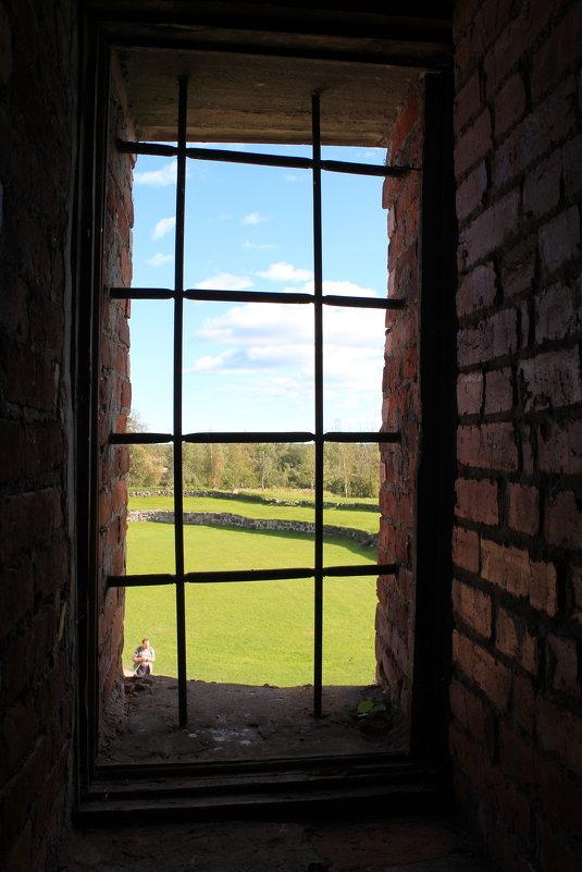 Вид из окна крепости Корела - Наталья Лунева