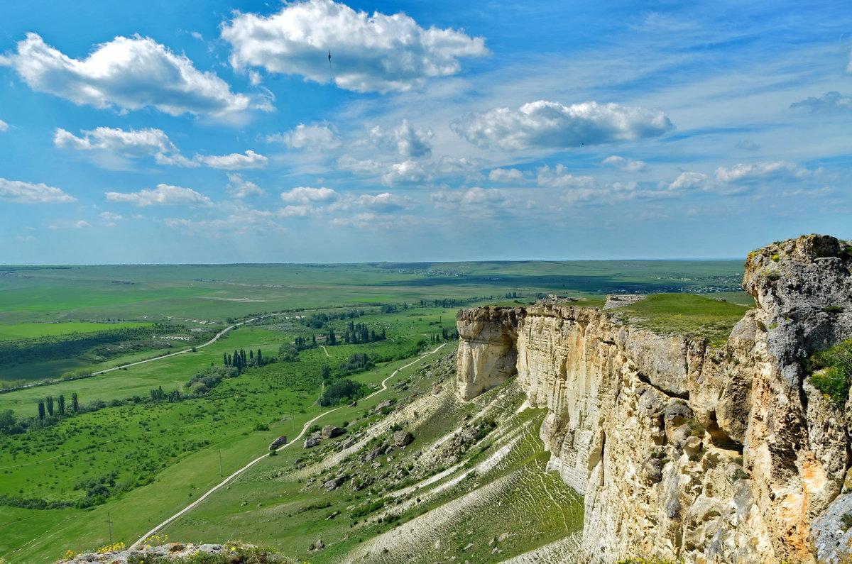 Крымские прерии с горы Ак-Кая (Белая скала) - Ольга Голубева