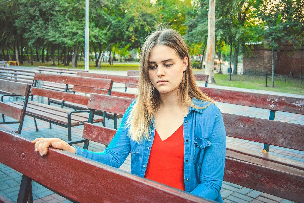 грустная осенняя девушка - Света Кондрашова