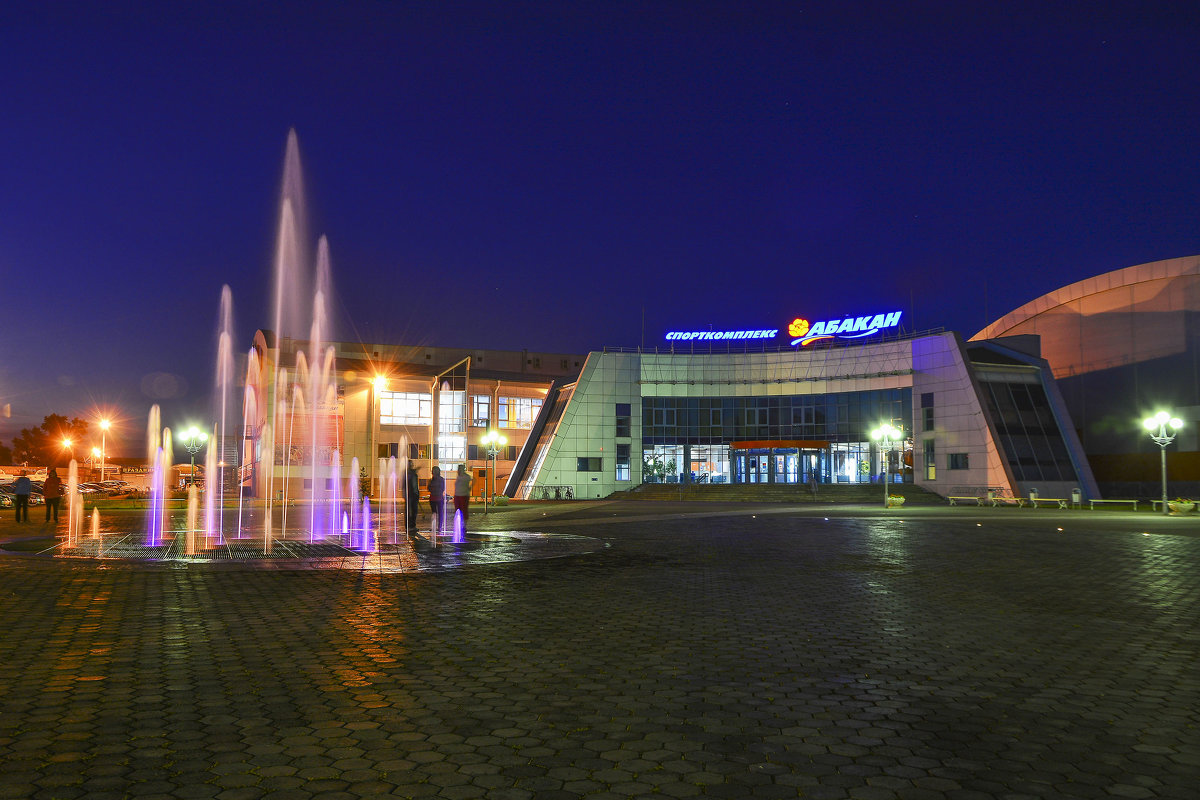 Ночной фонтан. - юрий Амосов