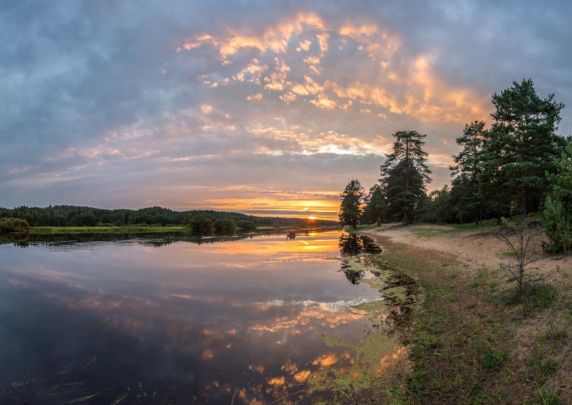Закат на река Луга - Фёдор. Лашков
